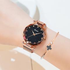 金迪拉星空手表女时尚潮流简约女生韩版防水夜光网红同款女士腕表