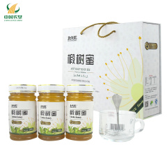 【中国农垦】北大荒 东北黑蜂蜂蜜 天然椴树蜜 精品礼盒装1140g