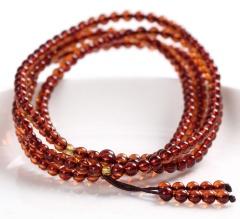琳福珠宝 天然琥珀手链 216颗血珀手链