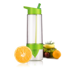 SIMELO首尔风情Tritan材质柠檬杯果汁杯儿童吸管杯手动榨汁杯支持