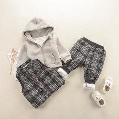 菲儿小屋  宝宝冬装男女童2019新款套装冬季男女童装卫衣休闲加厚三件套