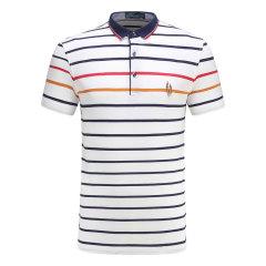 皇家棕榈马球俱乐部 男短袖条纹休闲POLO衫翻领男士T恤13722102