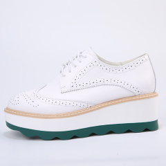 欧尔佳2017牛皮防水台女鞋J818-1