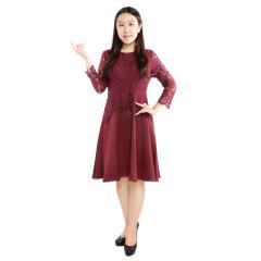DS蕾丝袖A字版连衣裙  货号122395