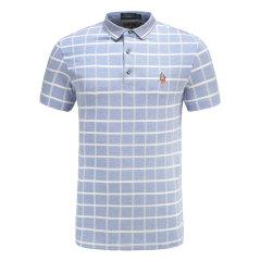皇家棕榈马球俱乐部 男短袖格子休闲POLO衫翻领男士T恤13722103