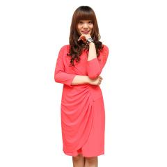 TianaB纯色修身中袖女裙
