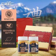 【藏蜜】天然野花蜜500g+高原油菜花蜜500g礼盒装  高原蜂蜜送礼佳品成熟原蜜