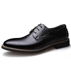 俊斯特2020经典四季款英伦皮鞋 正装商务男鞋男士真皮鞋子婚鞋